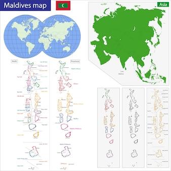 Mappa delle maldive