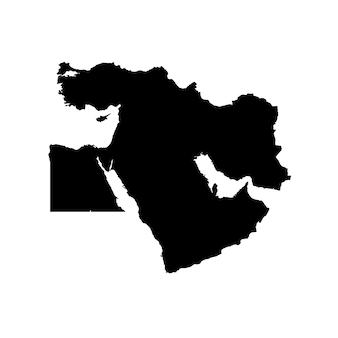 Mappa dettagliata del medio oriente