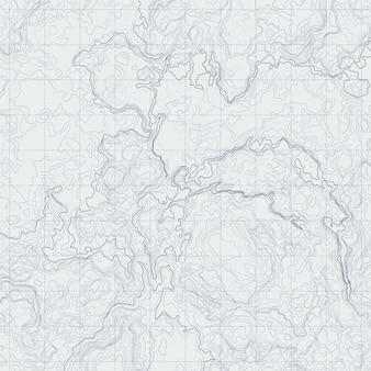 Mappa di contorno astratto con diverso rilievo. illustrazione vettoriale topografica per la navigazione