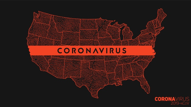Mappa di coronavirus diffusa negli stati uniti