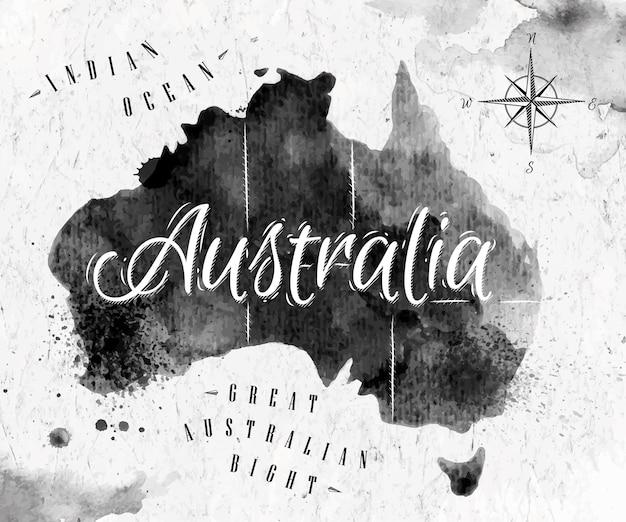 Mappa di ink australia