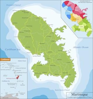 Mappa di martinica