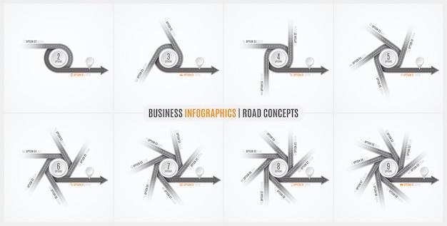 Mappa di navigazione infografica