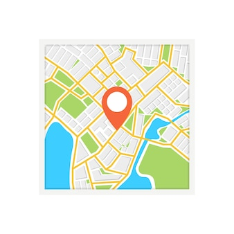 Mappa di navigazione quadrata