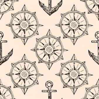 Mappa di pirati doodle pattern