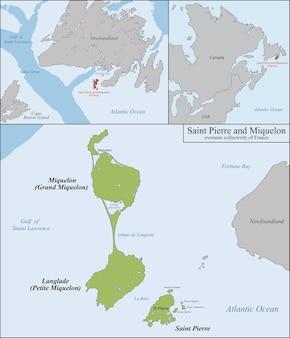 Mappa di saint pierre e miquelon