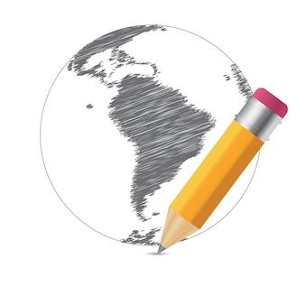 Mappa di schizzo del mondo