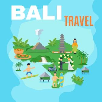 Mappa di sfondo bali travel