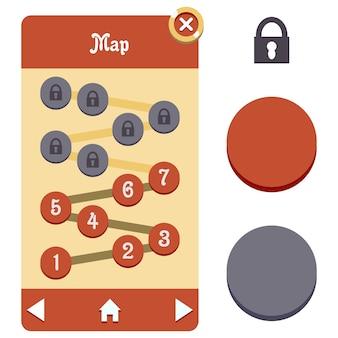 Mappa gui seleziona asset di gioco