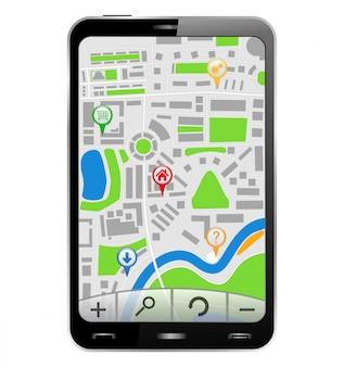 Mappa nel telefono cellulare