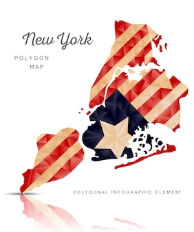 Mappa poligonale di new york
