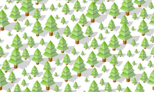 Mappa senza cuciture del modello di piano forestale di inverno