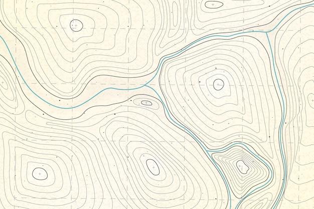Mappa topografica dettagliata sullo sfondo