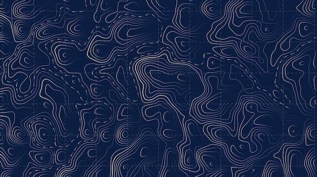 Mappa topografica griglia per sentieri di montagna.