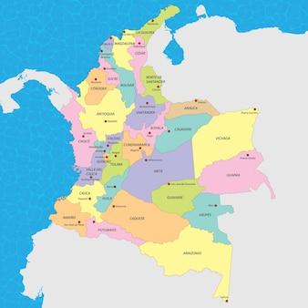 Mappa vettoriale colombia