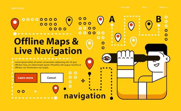 Mappe offline. navigazione dal vivo.