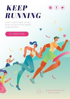 Marathon in esecuzione poster