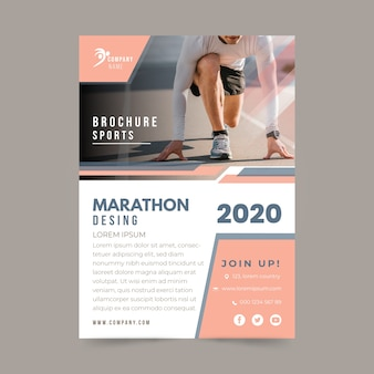 Maratona sportiva in stile poster