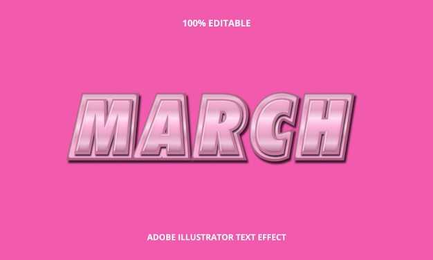 March metal text effect