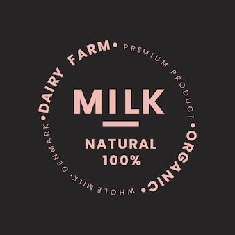 Marchio bottiglia di latte