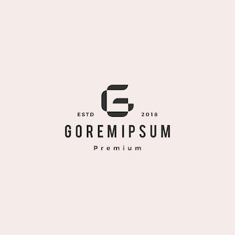 Marchio dell'icona di vettore di lettera g logo