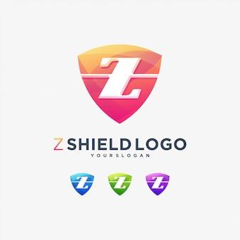 Marchio logotipo scudo lettera z