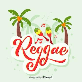 Marga reggae sullo sfondo