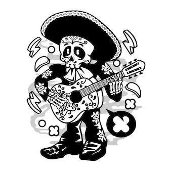 Mariachi singer cartoon