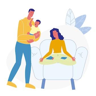Marito che aiuta moglie piatta