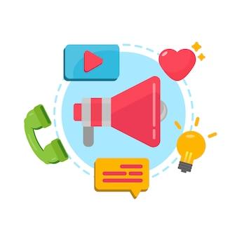 Marketing digitale per banner e sito web. campagna multimediale digitale