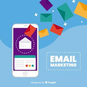 Marketing e-mail piatto