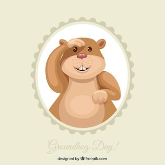 Marmotta illustrato per giorno groundgog