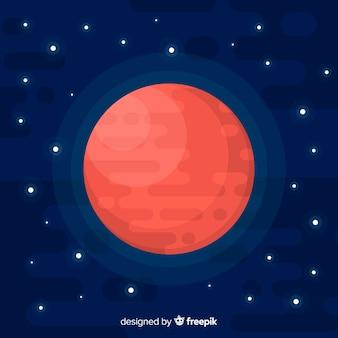 Marte colorato sfondo con design piatto