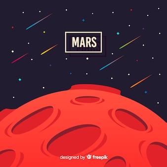 Marte moderno sfondo con design piatto