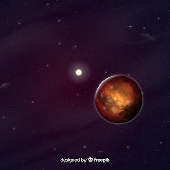 Marte moderno sfondo con un design realistico