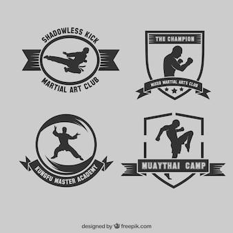Martial collezione arte badges