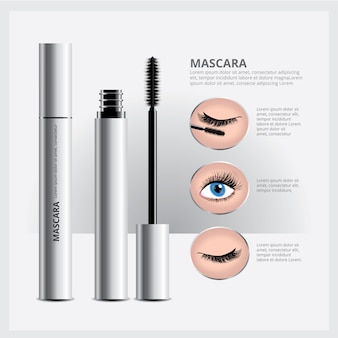 Mascara packaging con eye makeup