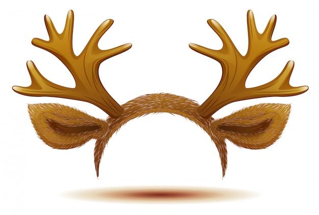 Maschera cervo corna e orecchie