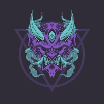 Maschera del diavolo del giappone