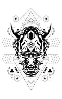 Maschera del diavolo geometria sacra
