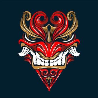 Maschera demone arte e illustrazione