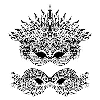 Maschera di carnevale decorativa