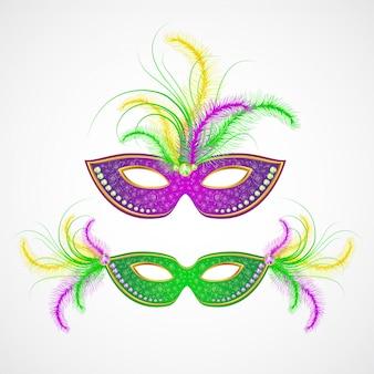 Maschera di carnevale mardi gras. illustrazione