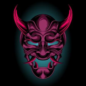 Maschera di demone viola