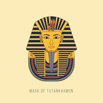 Maschera di faraoni d'oro egiziana