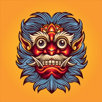 Maschera di satana illustrazione