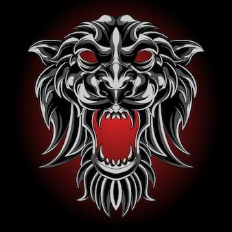 Maschera di tigre d'argento