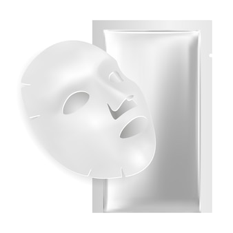 Maschera facciale, pacchetto foglio viso.