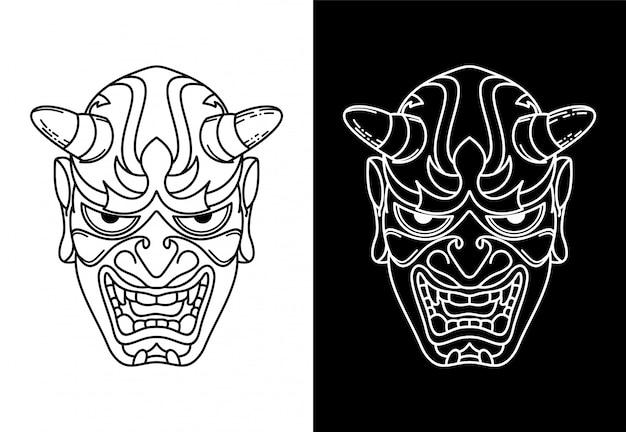 Maschera in bianco e nero, design monoline