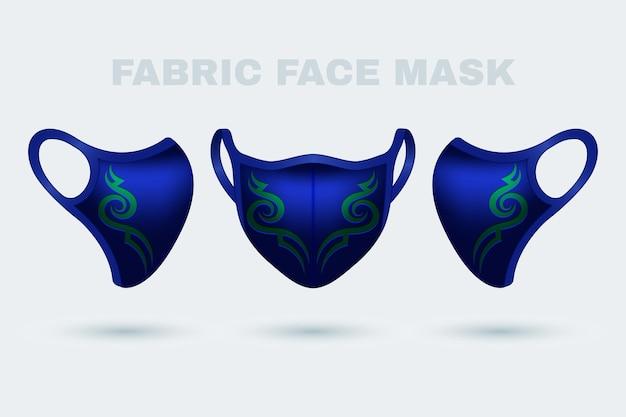 Maschera in tessuto realistico